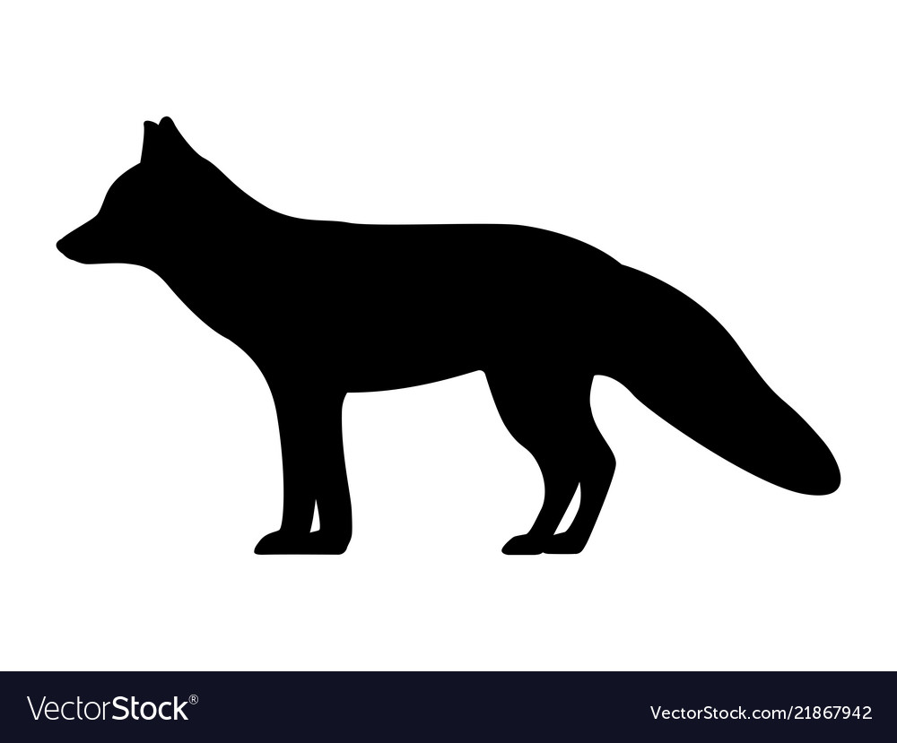 A Black Fox Silhouette Royalty Free Vector Image The best selection of royalty free fox silhouette vector art, graphics and stock illustrations. vectorstock