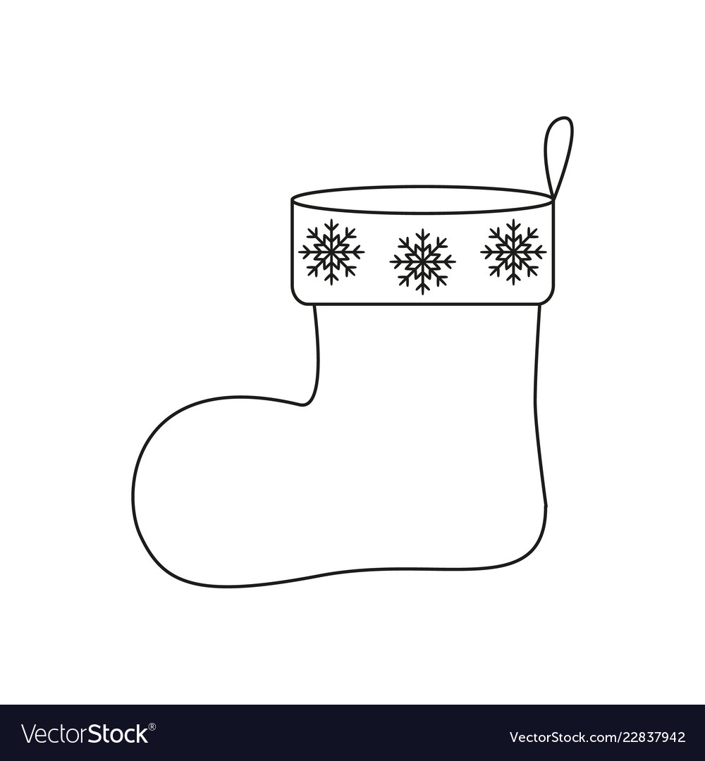 A christmas of sock icon a surprise