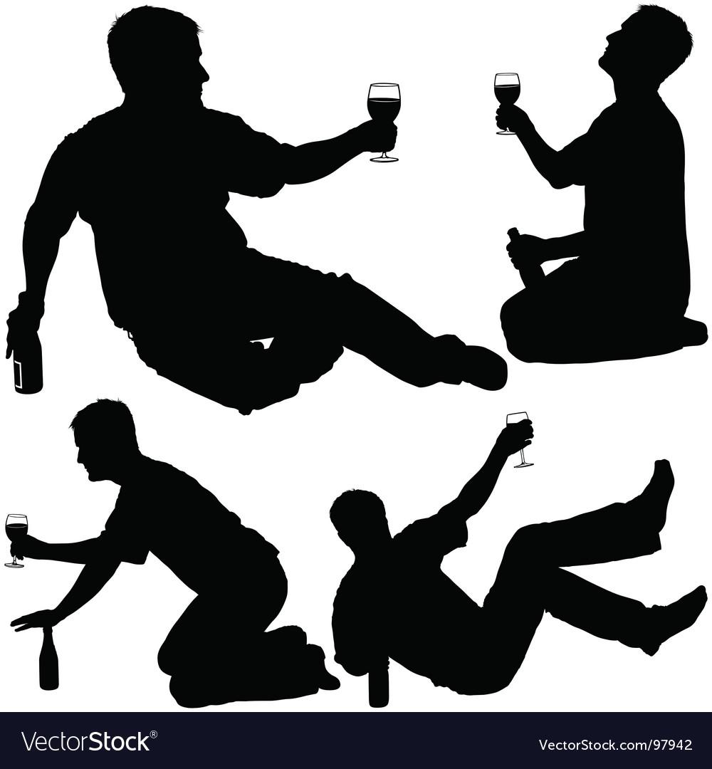 Drinking man vector image
