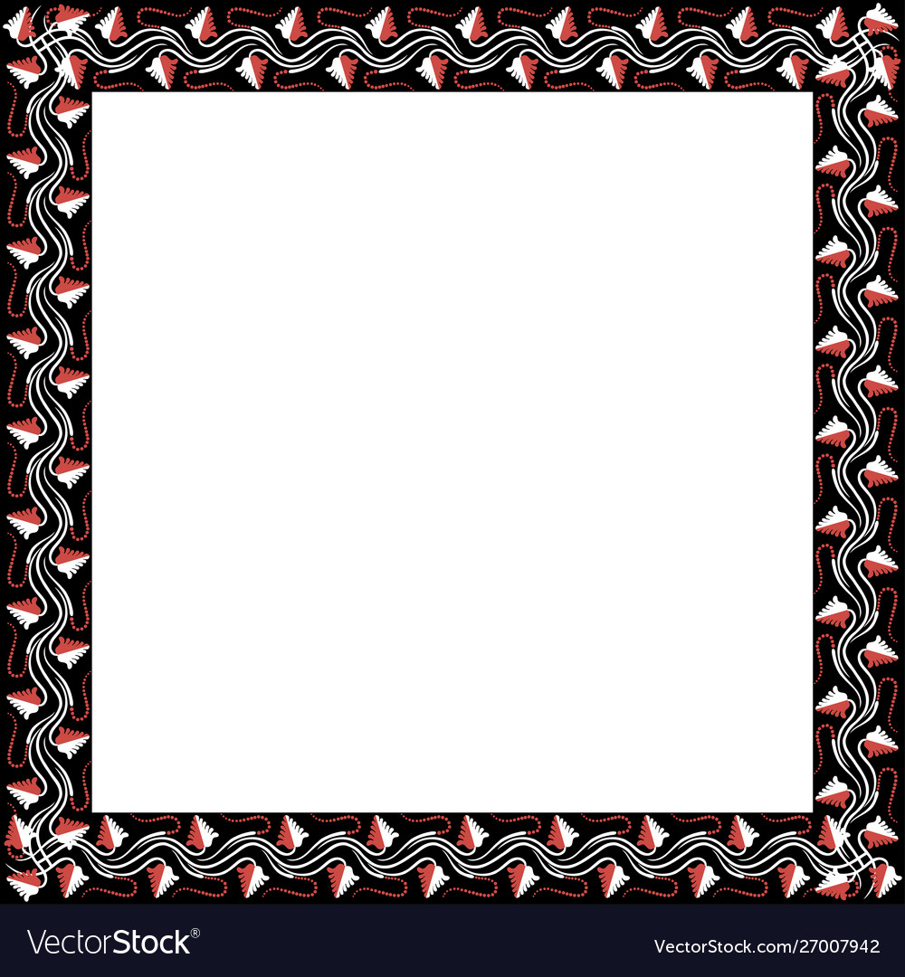 Square frame with greek floral ornament