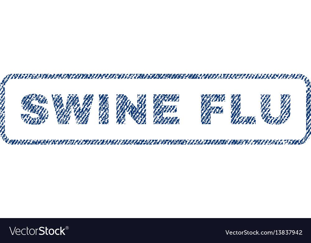 Swine flu textile stamp vector image