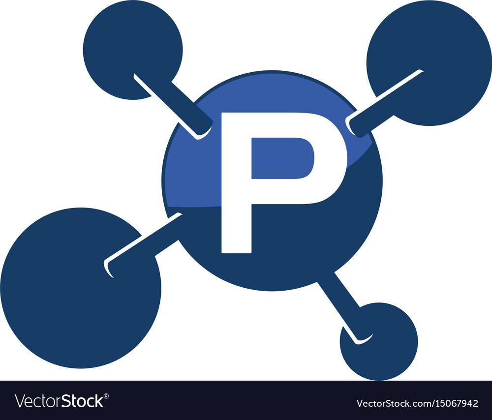 Synergy logo initial p