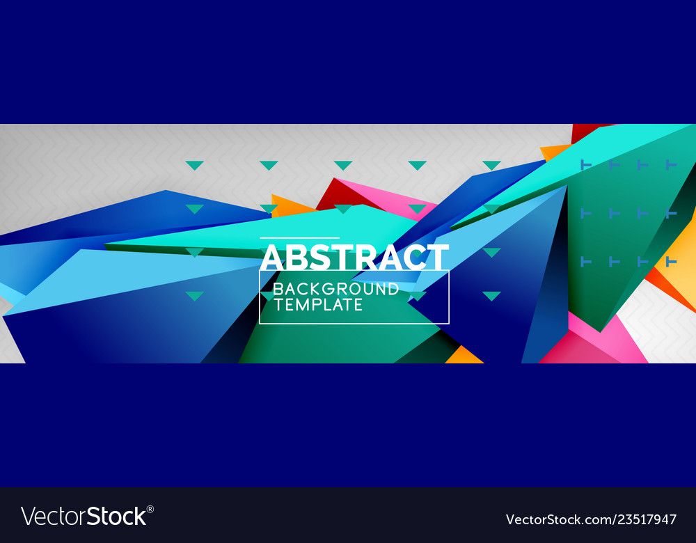 3d polygonal shape geometric background