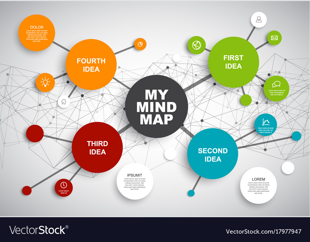 Abstract mind map infographic template royalty free vector abstract mind map infographic template vector image ccuart Choice Image