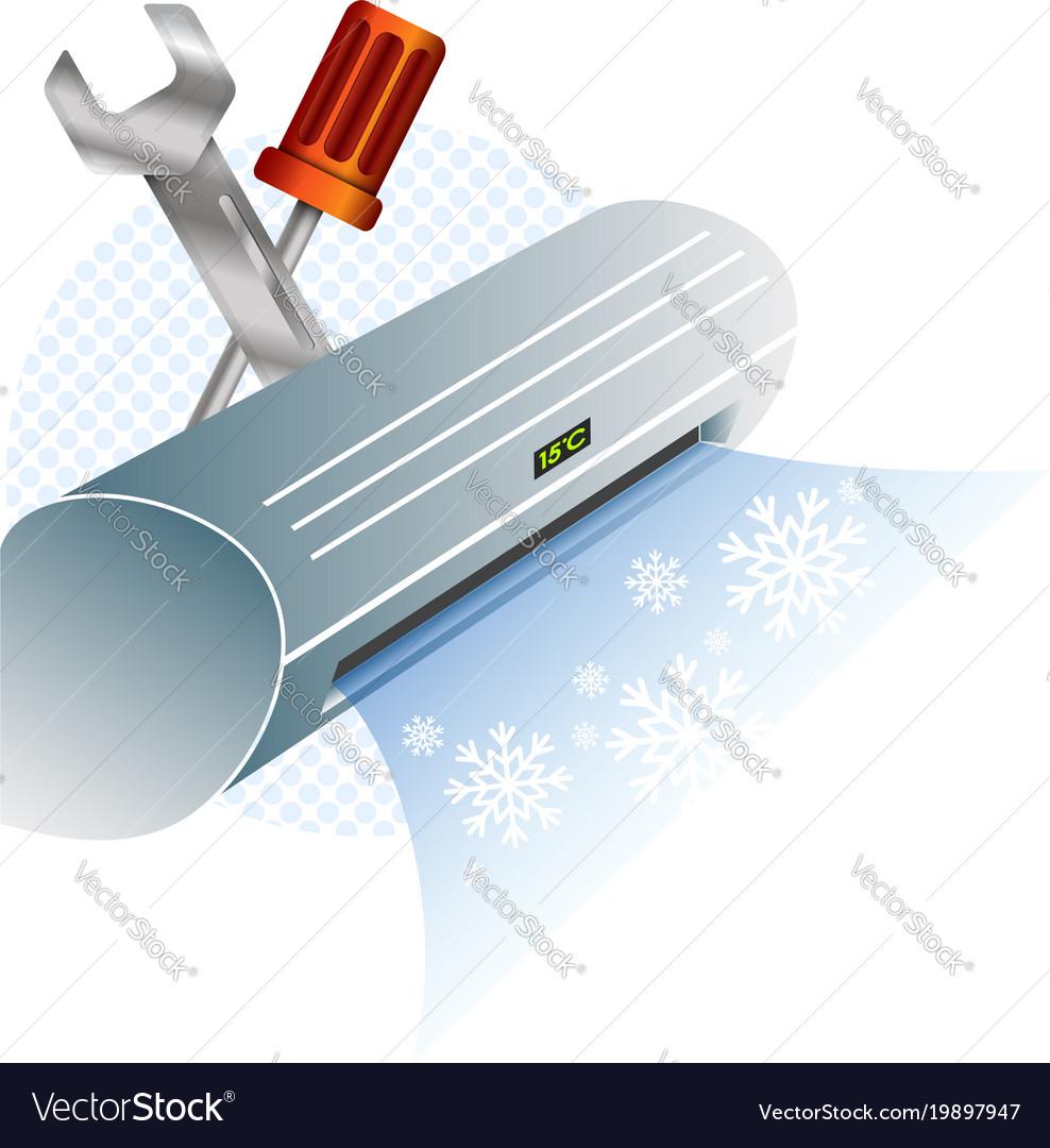 Air, Conditioner & Repairman Vector Images (35)