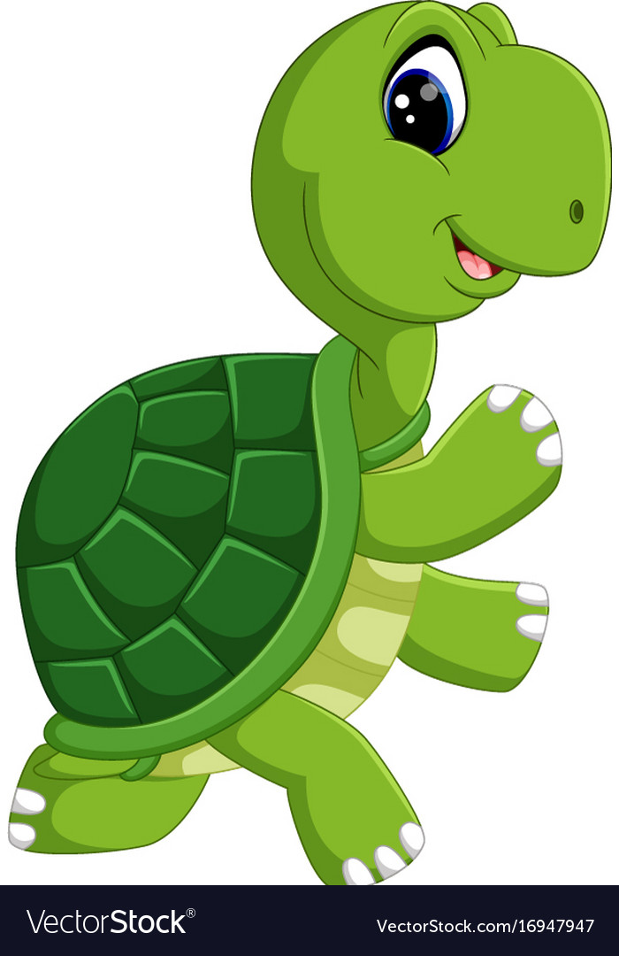 Cute turtle cartoon Royalty Free Vector Image - VectorStock