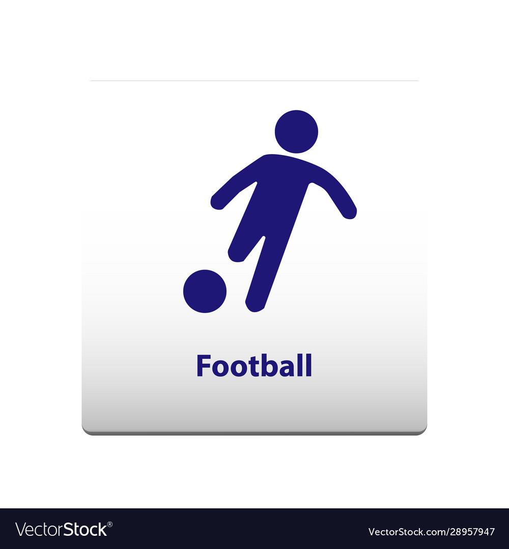 Football sport symbol stickman solid icon