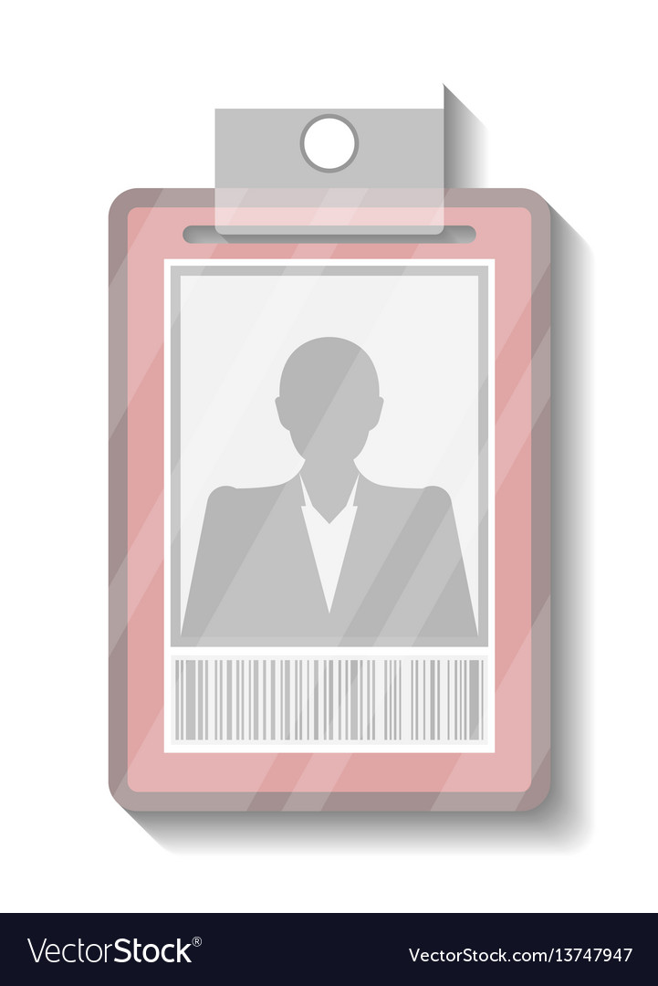 Name tag holder or badge template vector image