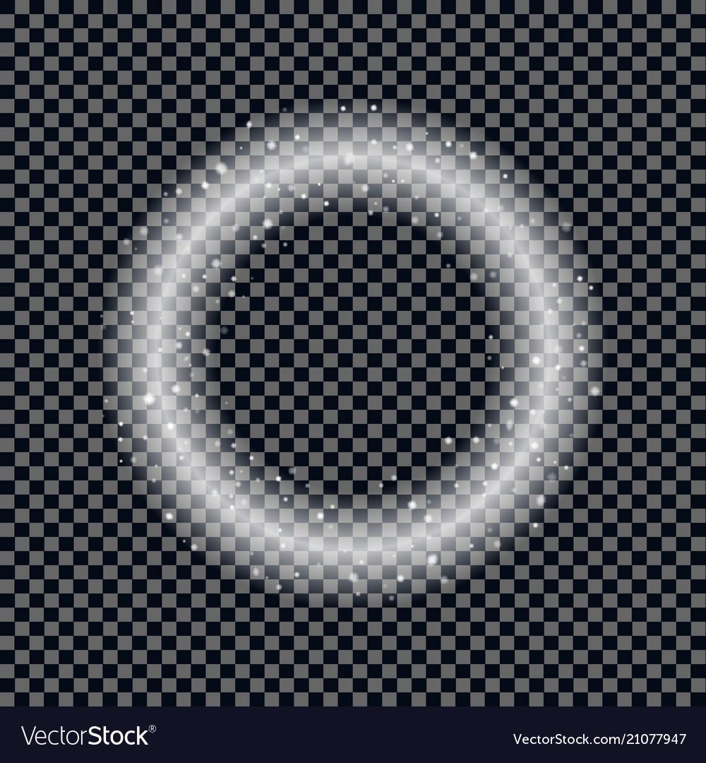 Round shiny frame background christmas star effec