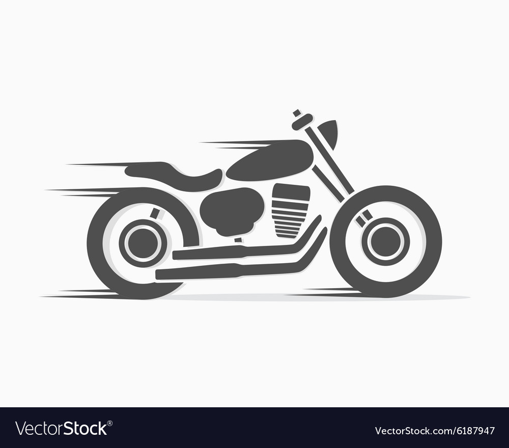 motorcycle logo  Vintage motorcycle logo template Royalty Free Vector Image