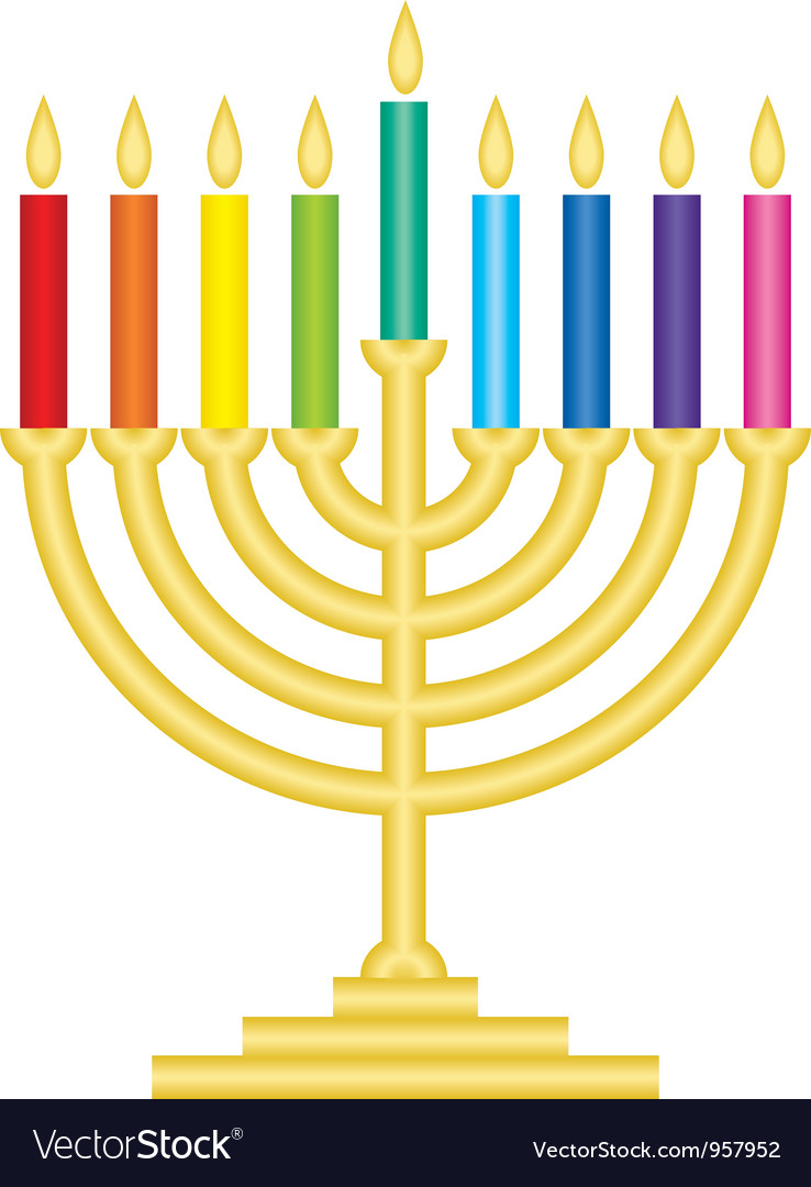 Channukah lamp vector image