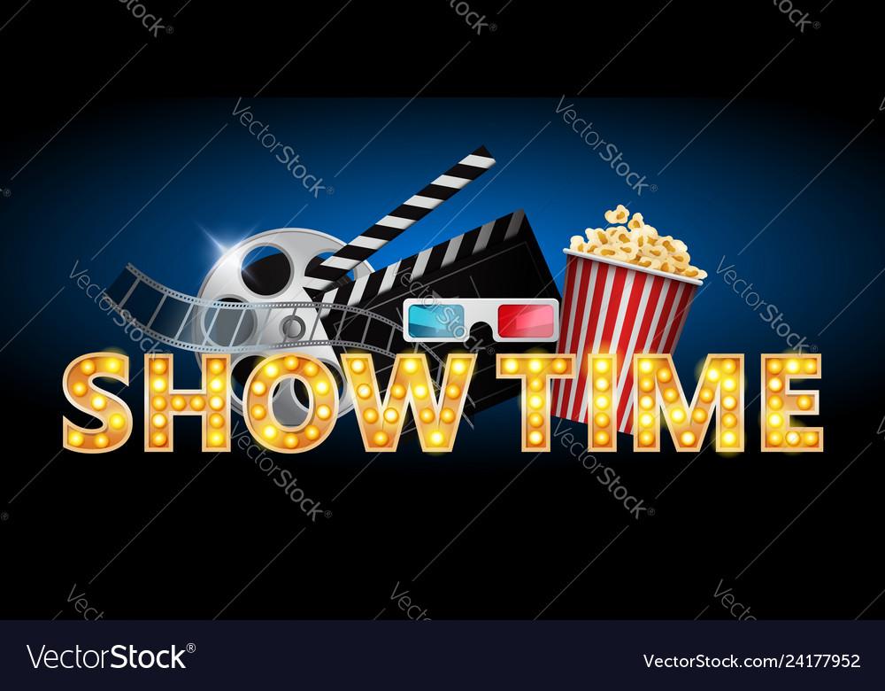 Cinema concept showtime banner poster design