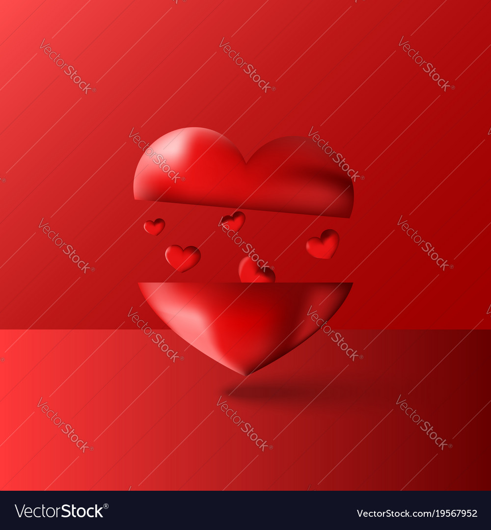 Happy Valentines Day Artwork Background With Vector Image