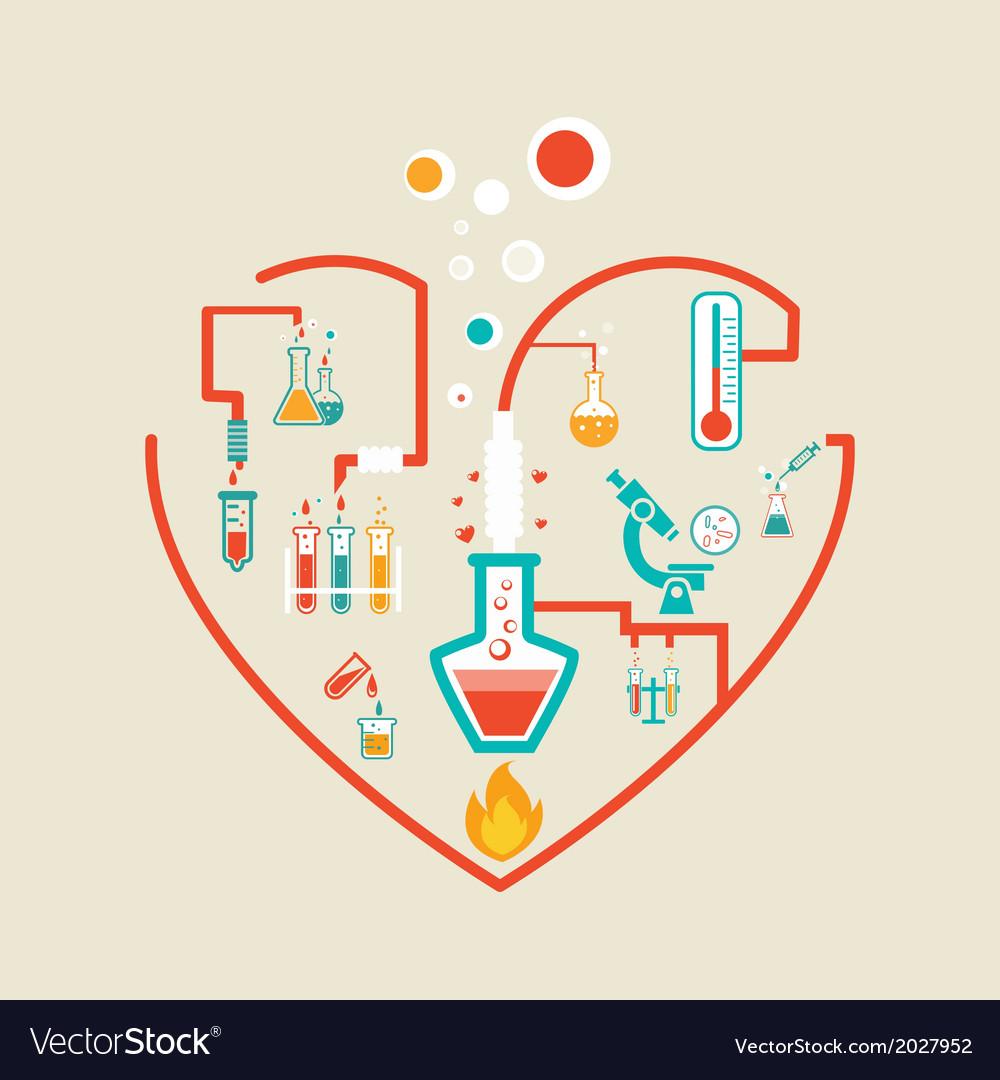 Love chemistry Royalty Free Vector Image - VectorStock