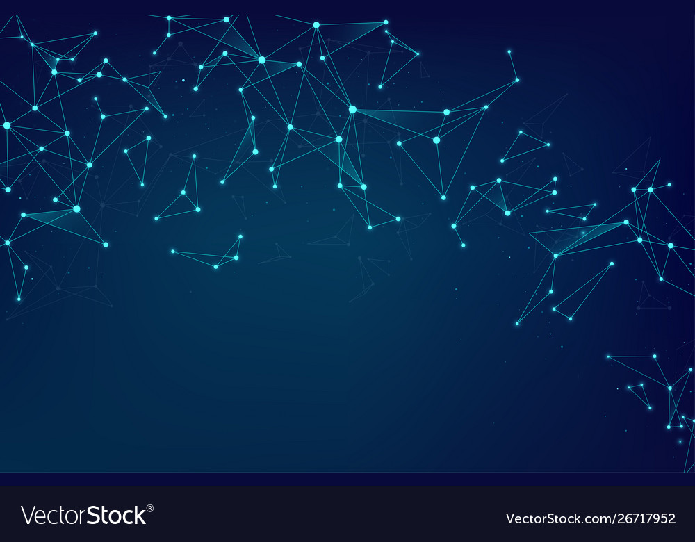 Network abstract connections with dots and lines