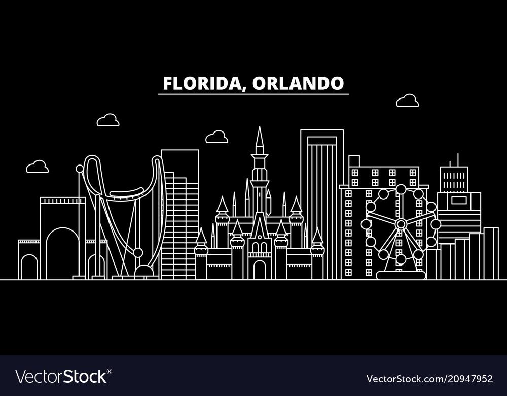 Orlando silhouette skyline usa - orlando