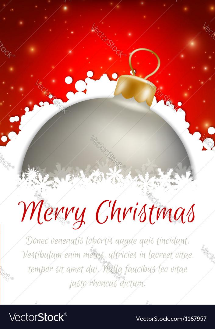 Christmas ball poster card