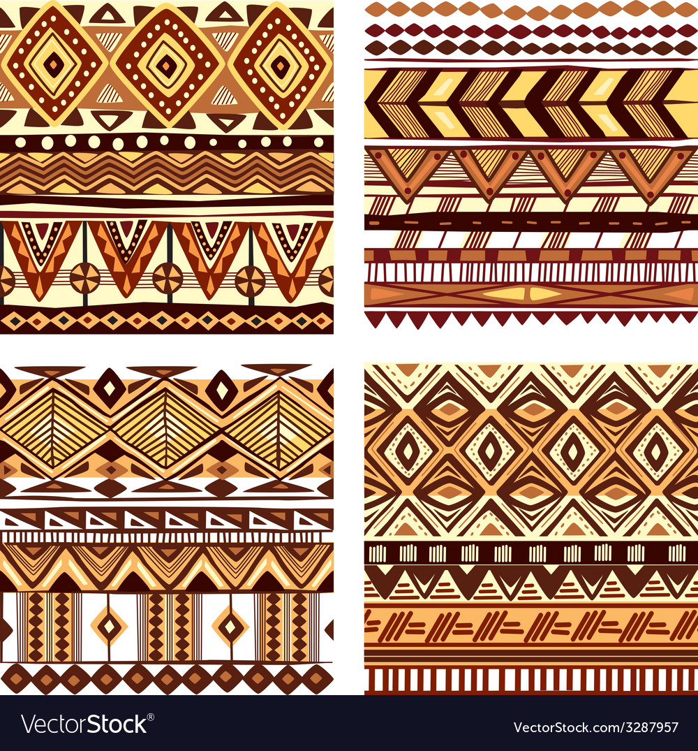 Color Seamless Tribal Texture Royalty Free Vector Image