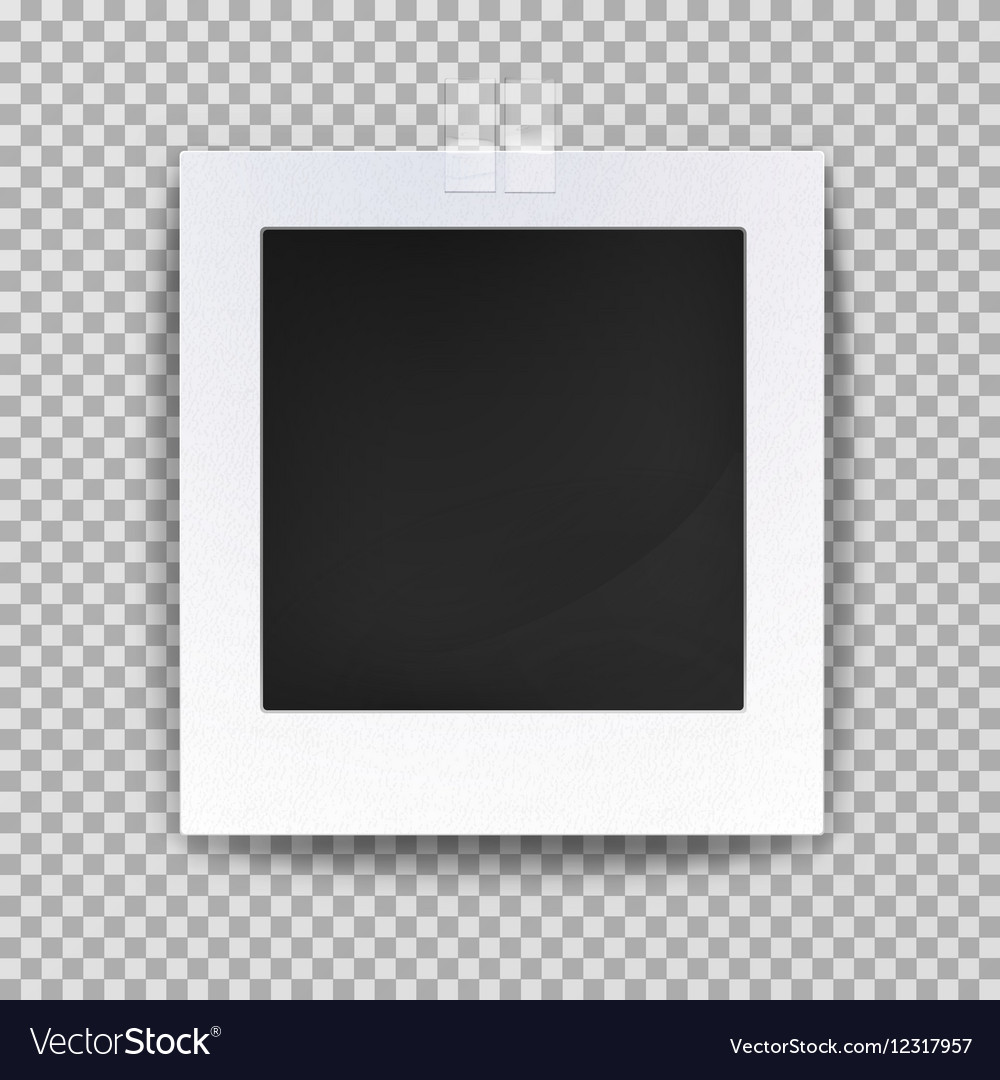Empty photo backdrop or old blank frame Royalty Free Vector