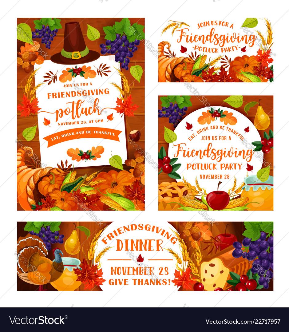 Friendsgiving potluck thanksgiving dinner party