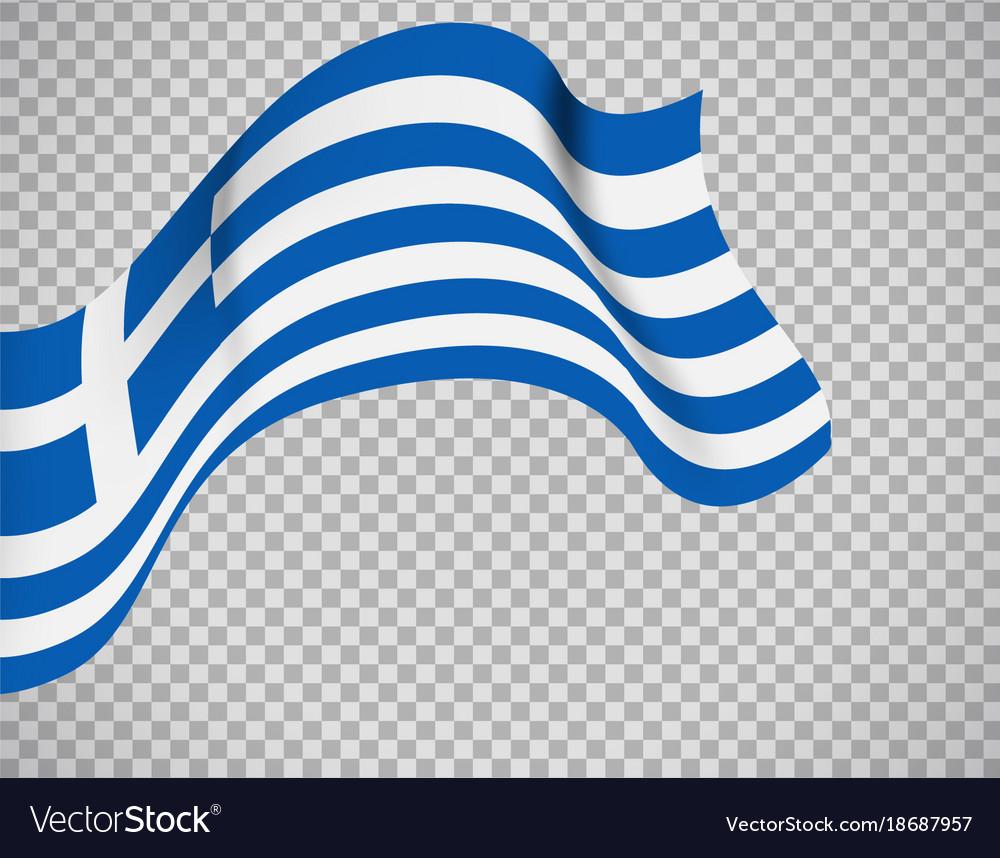 Greece flag on transparent background
