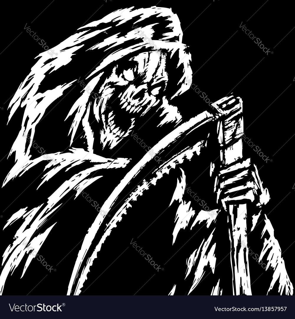 Horror grim reaper character
