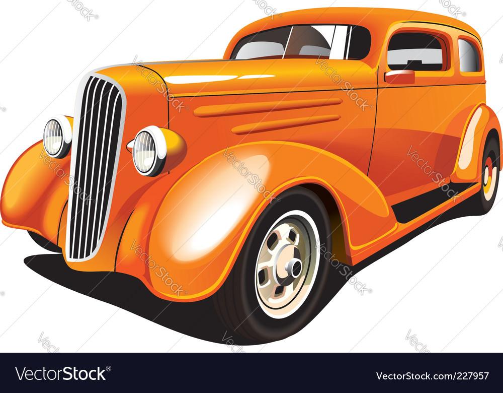 Hot rod vector image