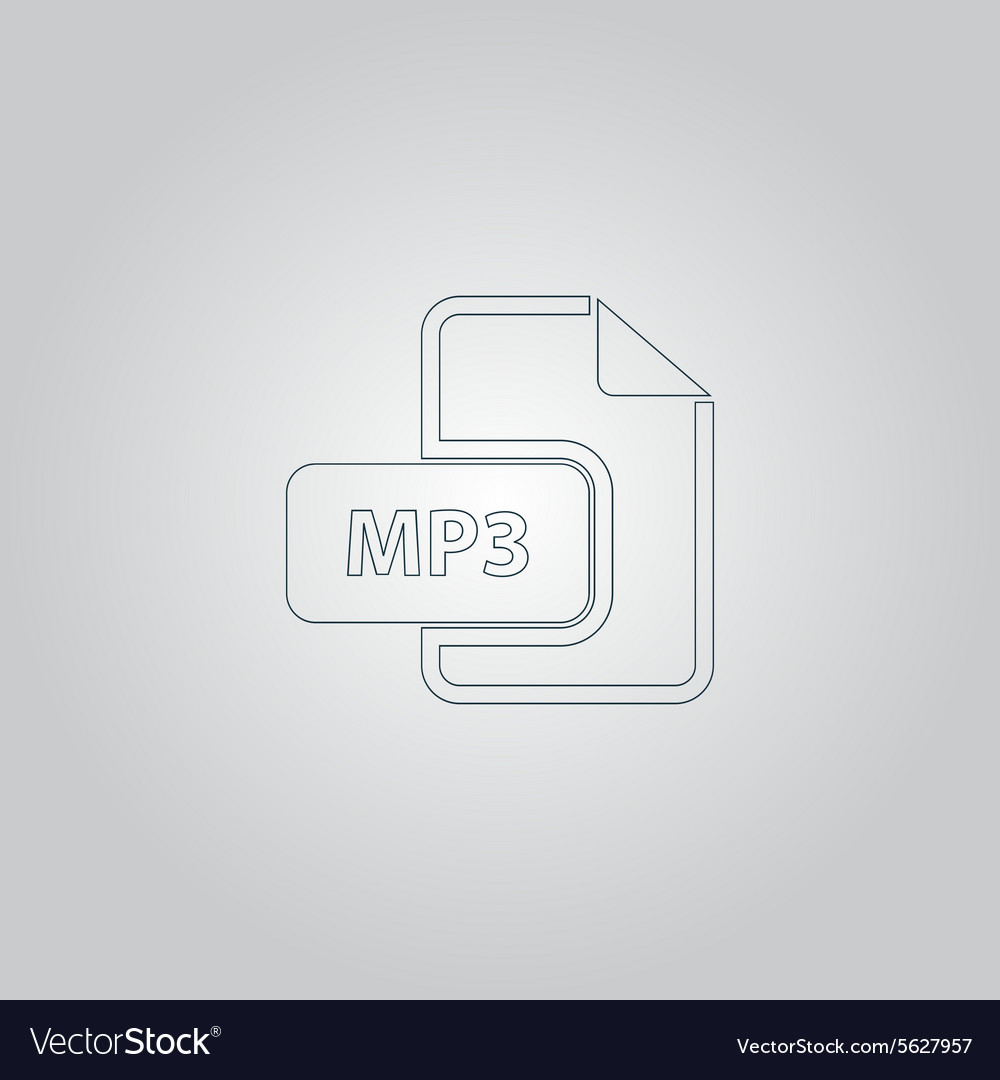 MP3 audio file extension icon