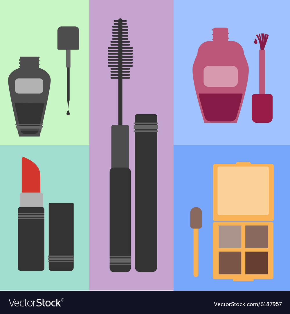 Women s cosmetic set vector image