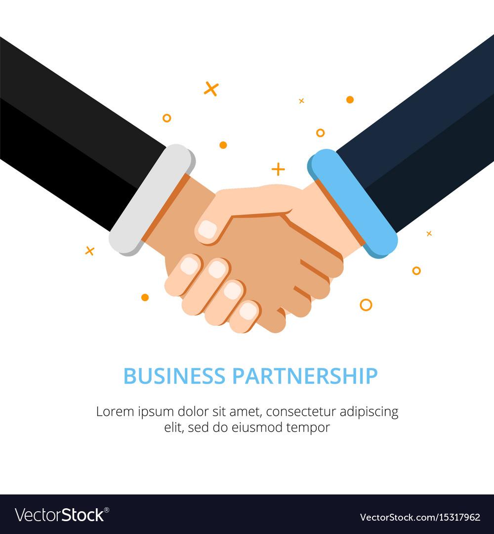 Businessman shaking hands in vector image