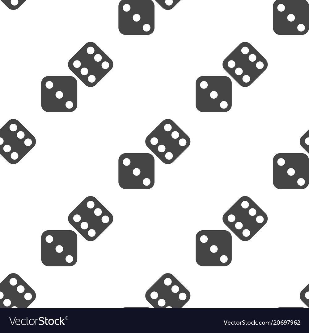 Dice seamless pattern