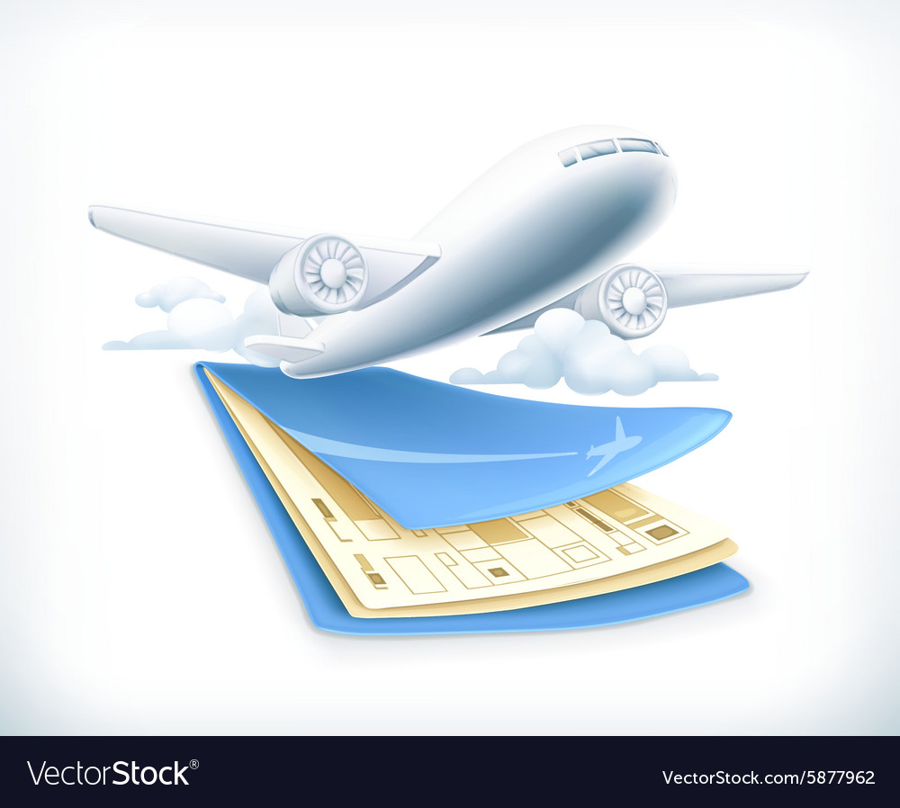 Flights vector image