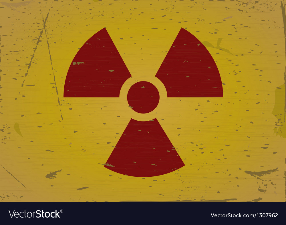 Radiation sign grunge background