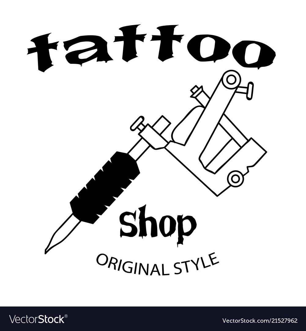 Tattoo shop tattoo machine background image