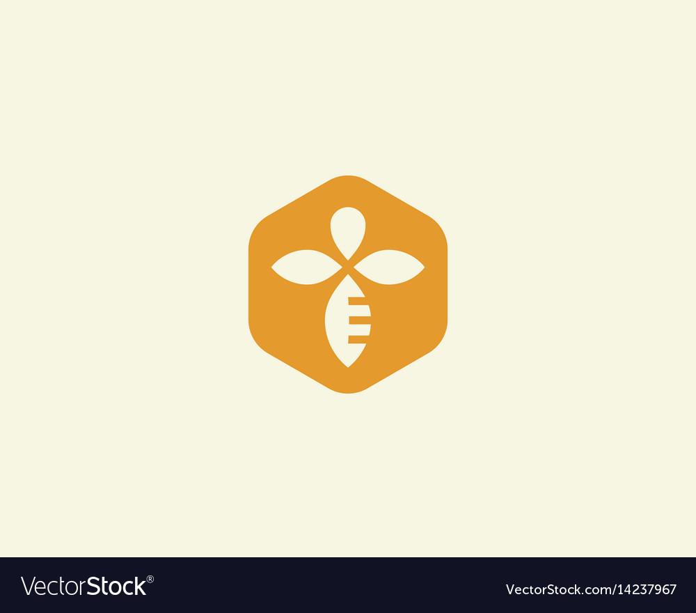 Bee honey creative icon symbol logo hard