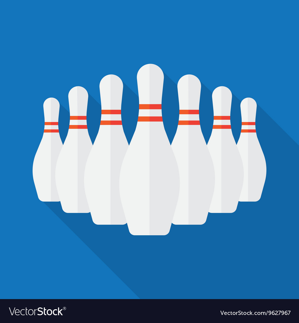 Group of White Bowling Pins