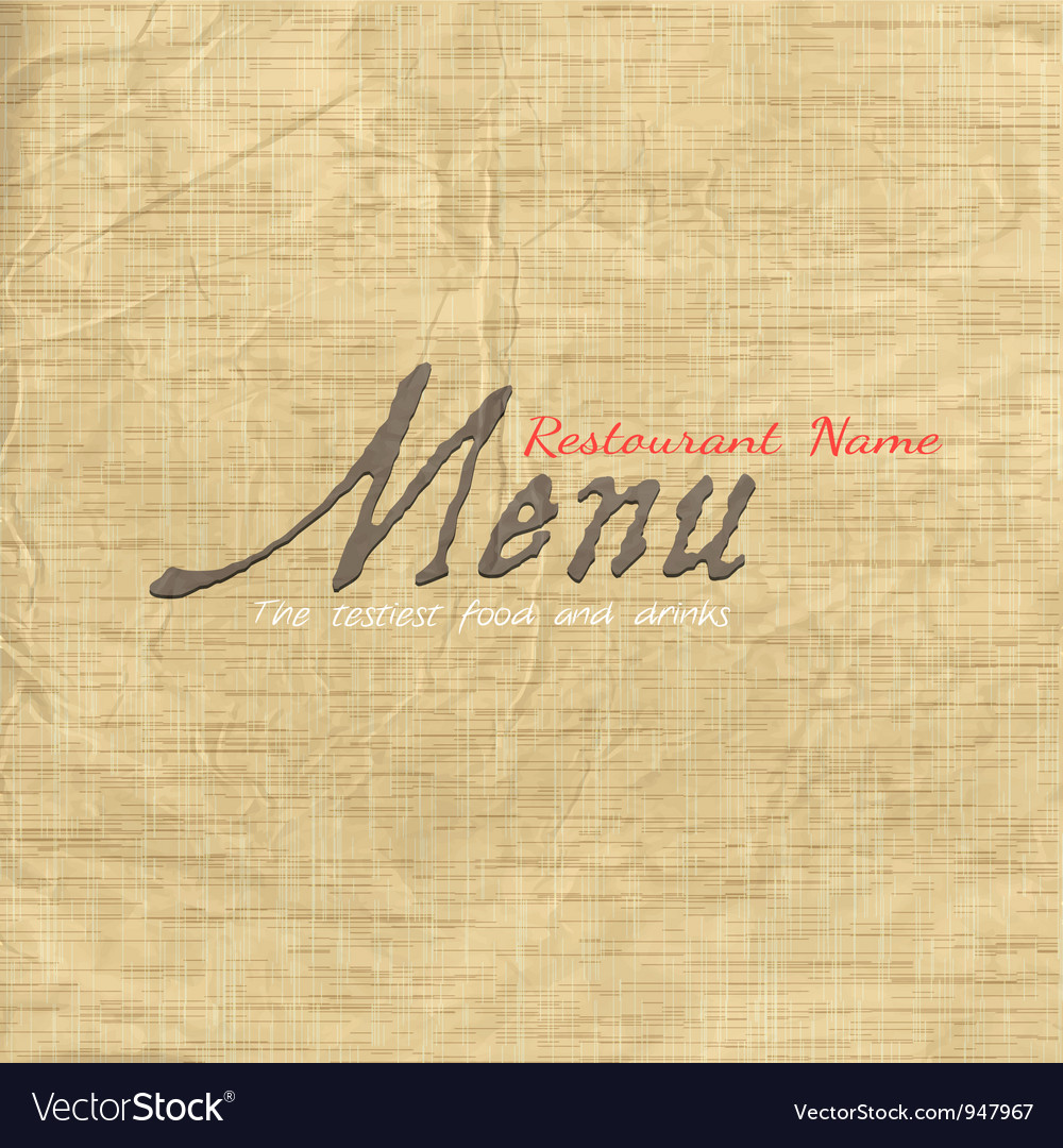 Menu card design on texture old paper