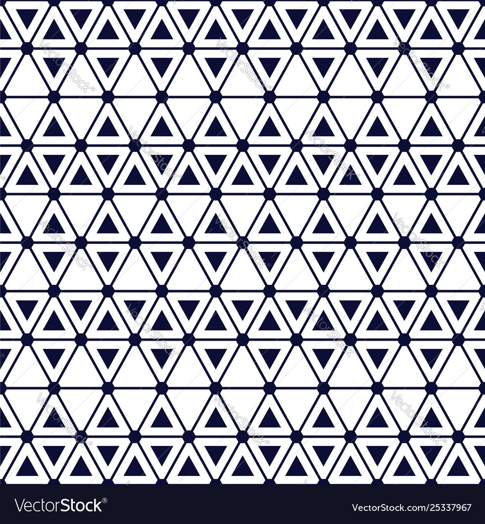 Seamless geometric pattern with bold triangles