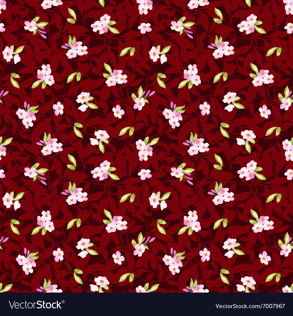 Seamless Pattern with little pink flowers