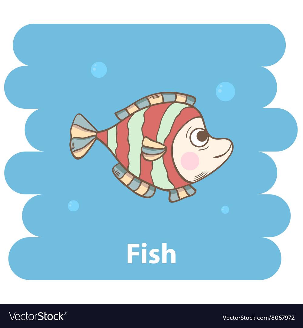 Cute cartoon Fish