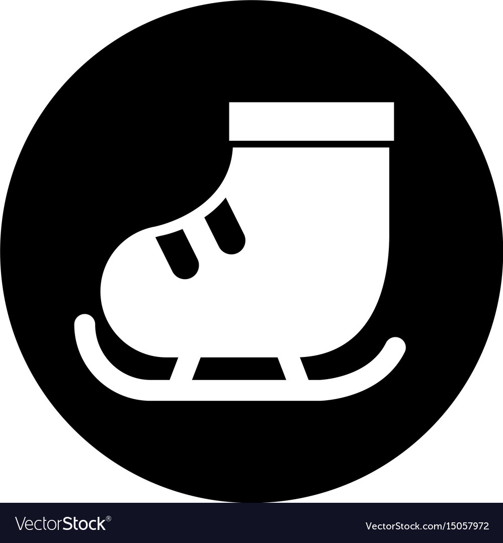 Cute round icon ice skate