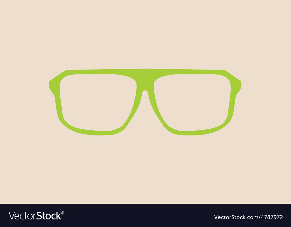 Green glasses on beige background