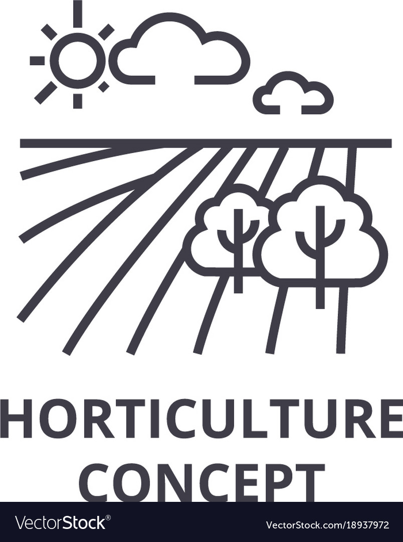 Horticulture concept line icon outline sign