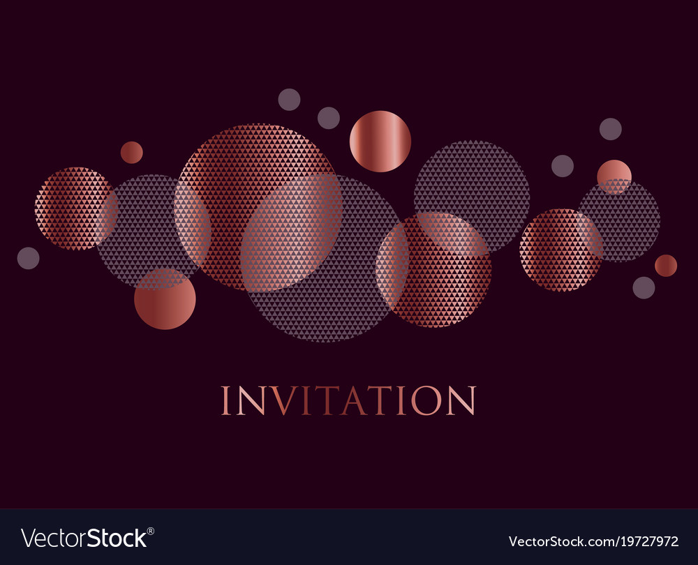 Rose Gold And Black Color Abstract Geometric Desig