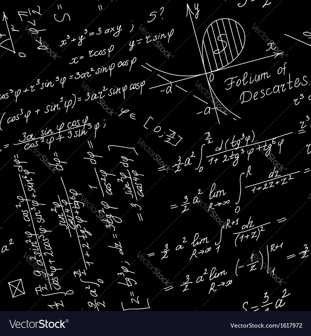 seamless background with math symbols royalty free vector