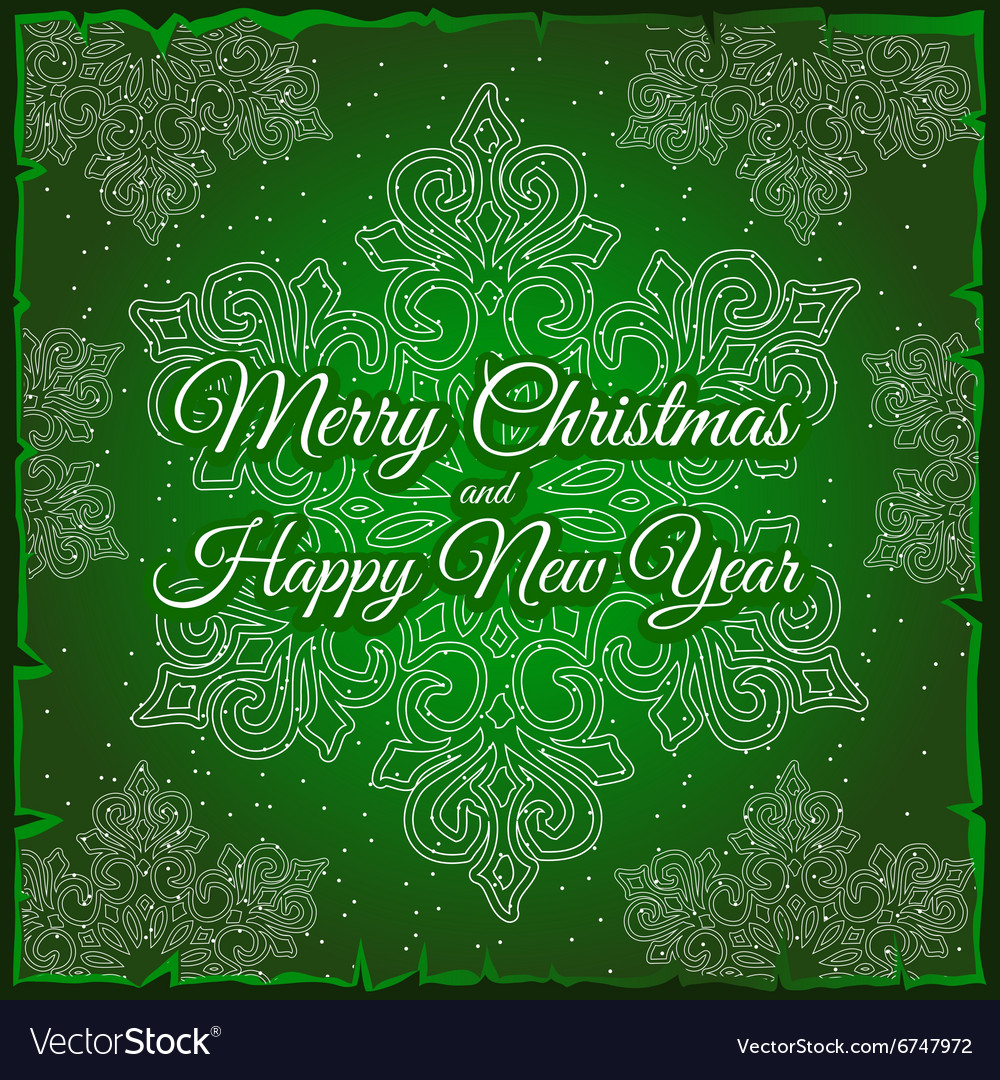Snowflake and sample text on a green background