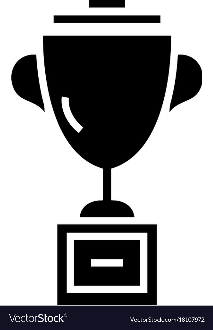 Trophy cup icon black sign