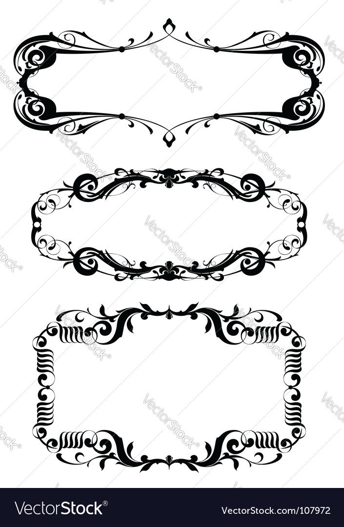 victorian frame set royalty free vector image vectorstock rh vectorstock com victorian border frame vector circle victorian frame vector