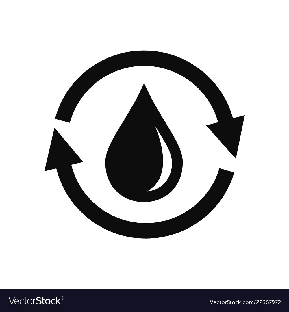 Water saving icon simple style