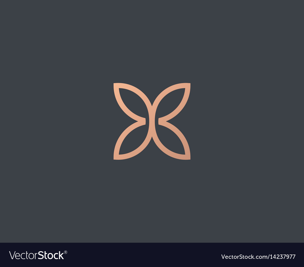 Abstract butterfly flower simple logotype